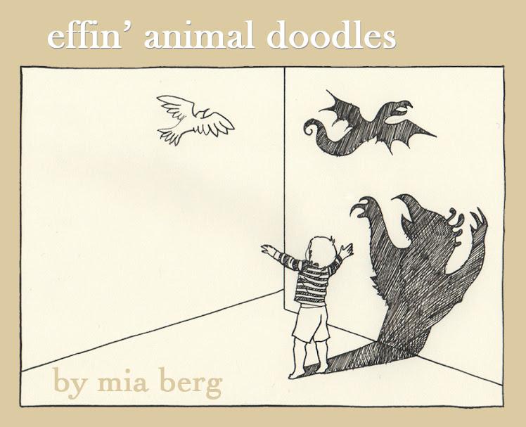 effin' animal doodles
