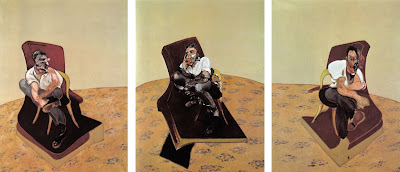 Bare Arm Chairs [38] Triptych, Three Studies for a Portrait of Lucian Freud, 1966. Deleuze on Bacon, Painting Series