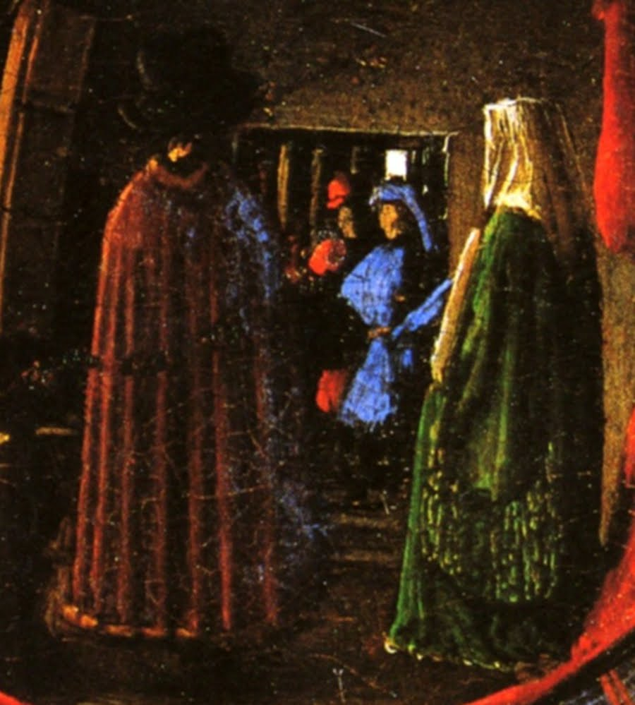 symbolism in giovanni arnolfini and his bride Start studying ch 19, 20 art history purpose of the painting giovanni arnolfini and his bride 4 symbols contained in the giovanni arnolfini and his bride.