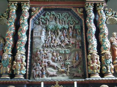 Genevieve of Brabant. Genoveva von Brabant. Genovefa. Fraukirch Altar