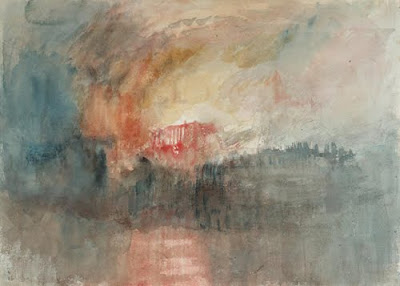 Turner. The Burning of the Houses of Parliament, 1834