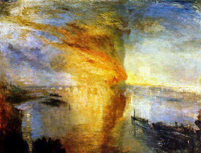 Turner. The Burning of the Houses of Parliament