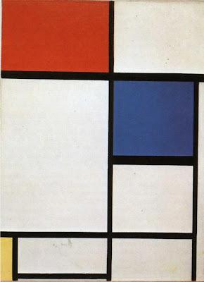 Piet Mondrian. Composition  with Blue, Red and Yellow - Compositie met blauw,rood en geel 1930