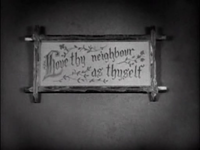 Buster Keaton. Our Hospitality. first love thy neighbor sign