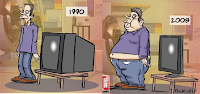 la evolucion del hombre y   la TV