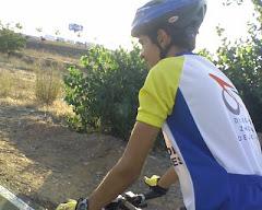 En el carril bici en verano