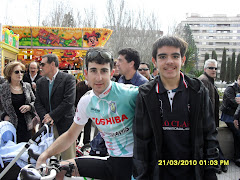 Con un gran ciclista amateur de Ávila