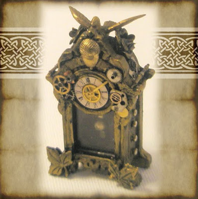 What 39 s bubbling at cauldron craft miniatures i 39 m in the march issue of aim 39 s free online - Steampunk mantle clock ...