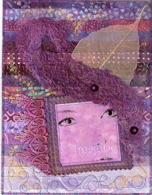 fabric art journal quilt