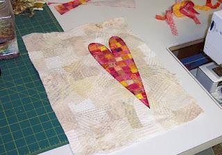 fabic collage art quilt
