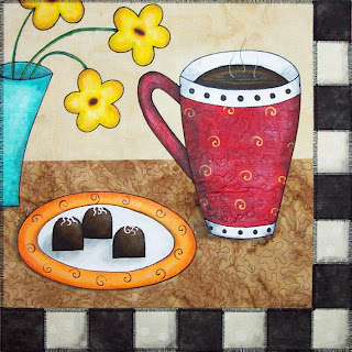 chocolate art quilt