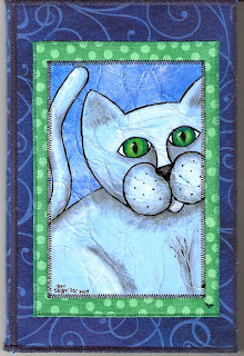 cat fabric notepad folder
