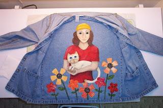 painted denim jacket appliqué flowers