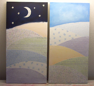 painting, mixed media landscape, acrylic paint, canvas, art
