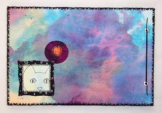 fabric journal cat flower