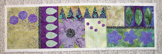 fabric collage table runner