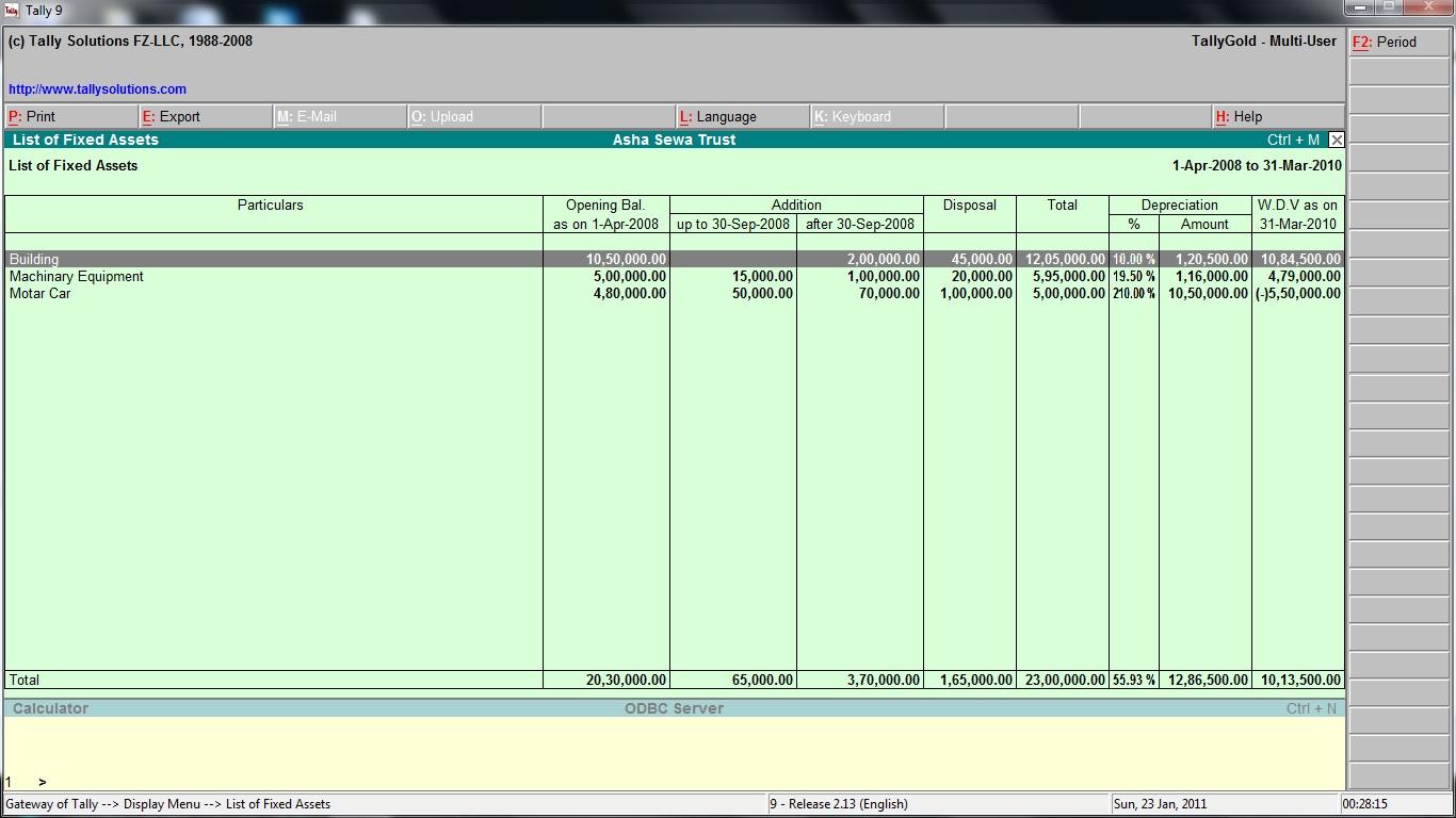 Automobile Billing System Yamaha Dealer Samadhan Plus Voucher Deposit Fz Cell 500 Fixed Asset Management
