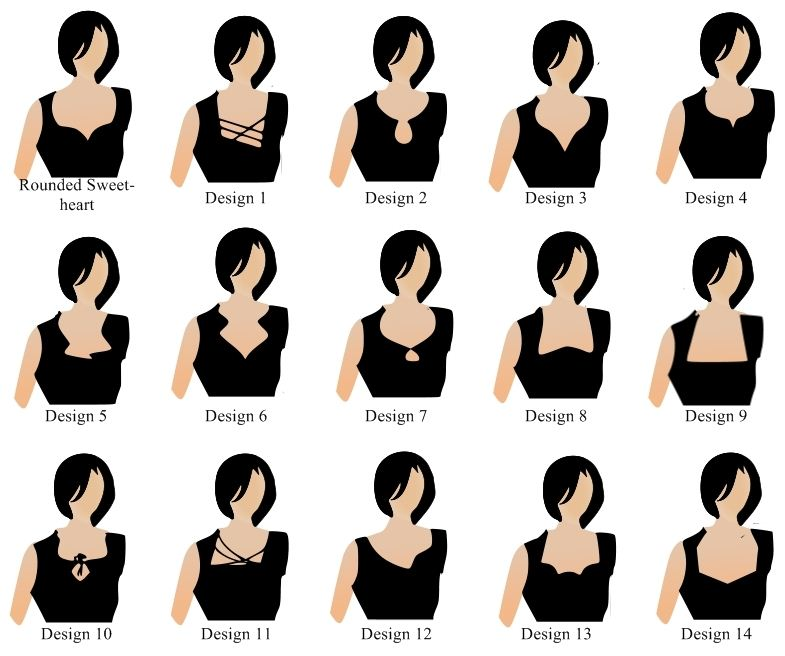 Saree blouse neck patterns free patterns for Different types of design styles
