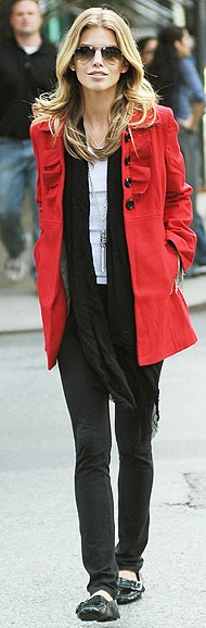 Project Game Day: How to wear it: red coat