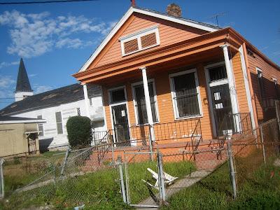 Orange house.