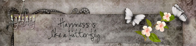 Happiness is like a butterfly.....