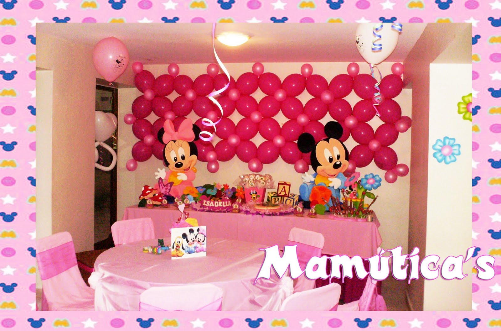 Decoracion Con Globos Minnie Mouse Zebra Graffiti Images