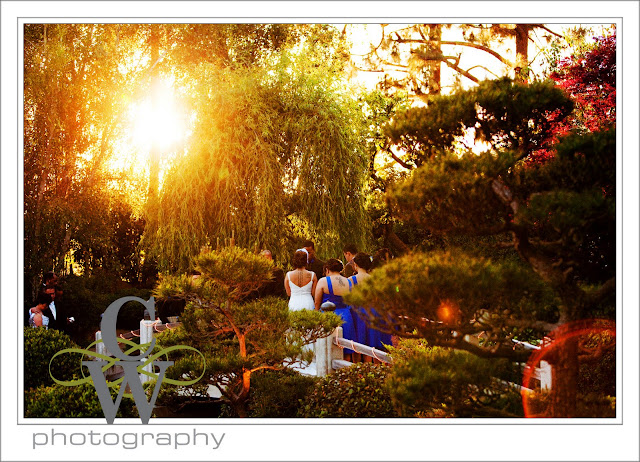 wedding earl burns Japanese garden
