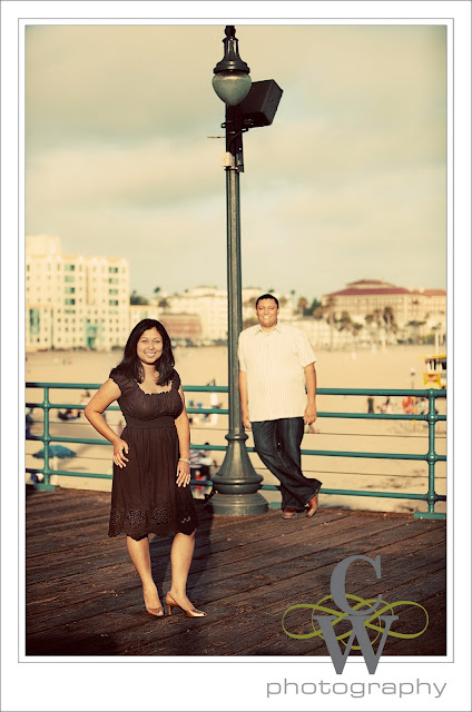 Engagement Portrait, Santa Monica Pier