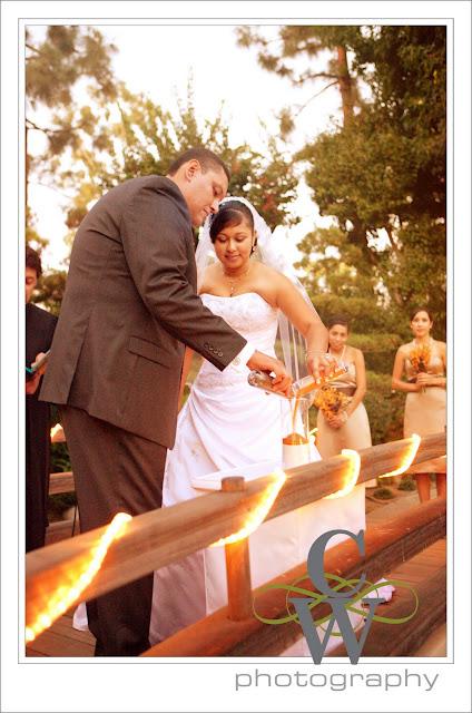 Earl Burns Japanese Garden Wedding, Long Beach CA