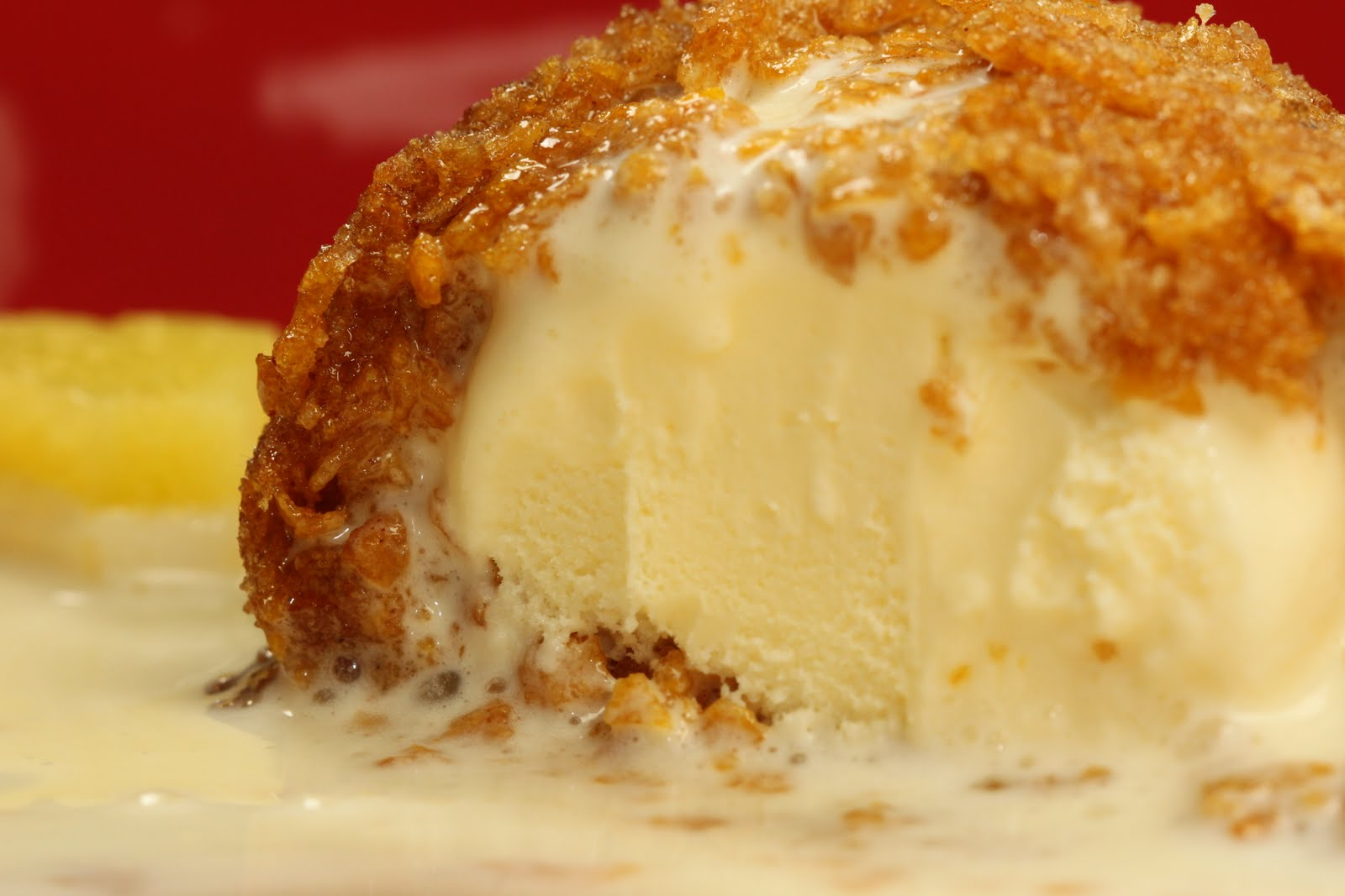 Baking is my Zen: Fried Ice Cream with Pina Colada Cream Sauce