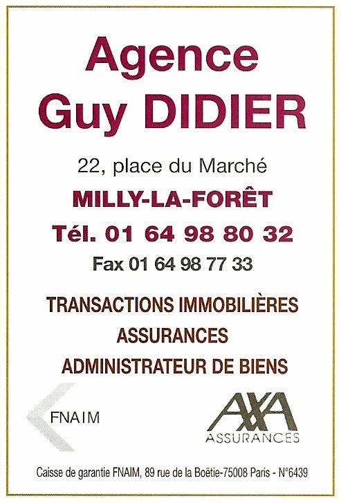 Histoire des commerces de milly la foret n 22 place du for Agence immobiliere 64