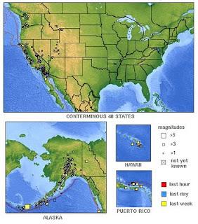 Latest Earthquakes in the USA - Last 7 days