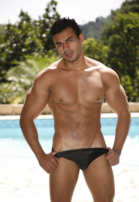 sexy black speedo guy