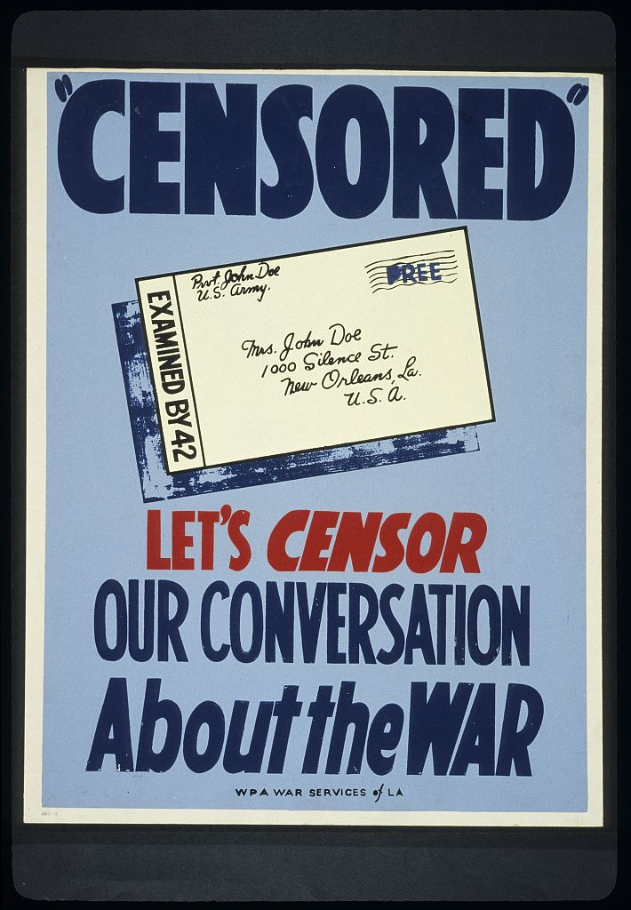 Wwii Letters Letter Censorship During Wwiicensor Stamp Examples