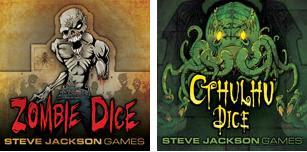Zombie Dice e Cthulhu Dice, giochi di dadi