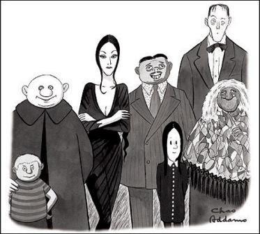 La famiglia Addams in una striscia degli anni trenta