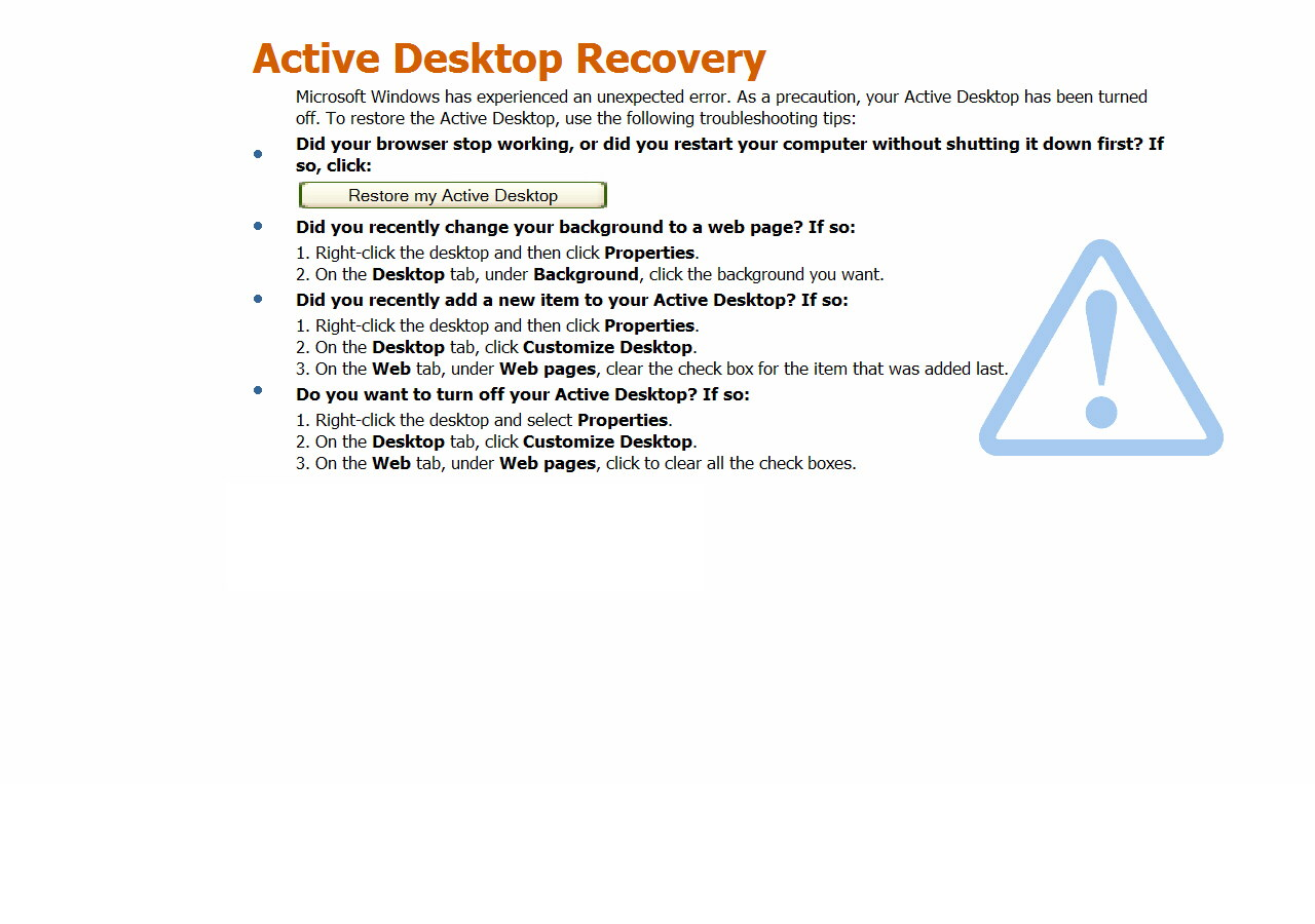 Active Desktop