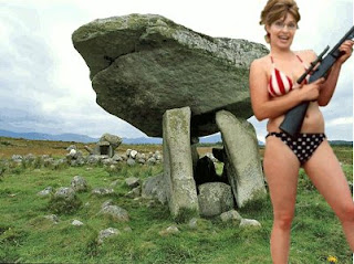 Sarah Palin at the Dolmen outside Carlow Town