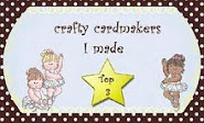 I made the Top Three at Crafty Cardmakers