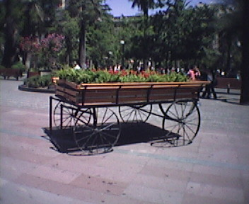 Carreton porta flores.