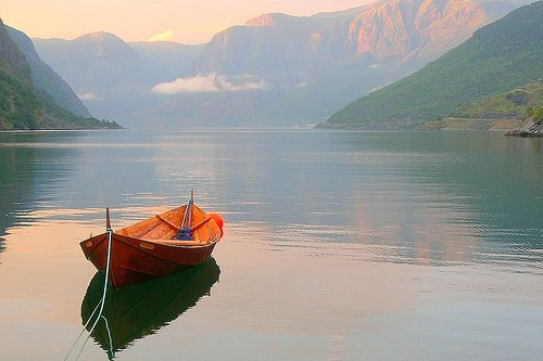 boat, fjord in norway