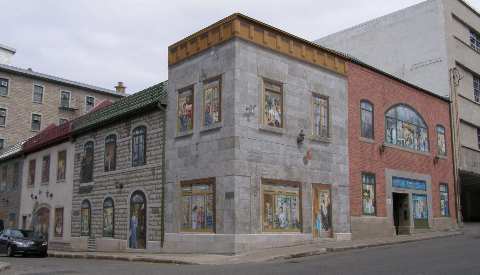 Rambling traveler wall murals of quebec city for Bridge mural frederick md