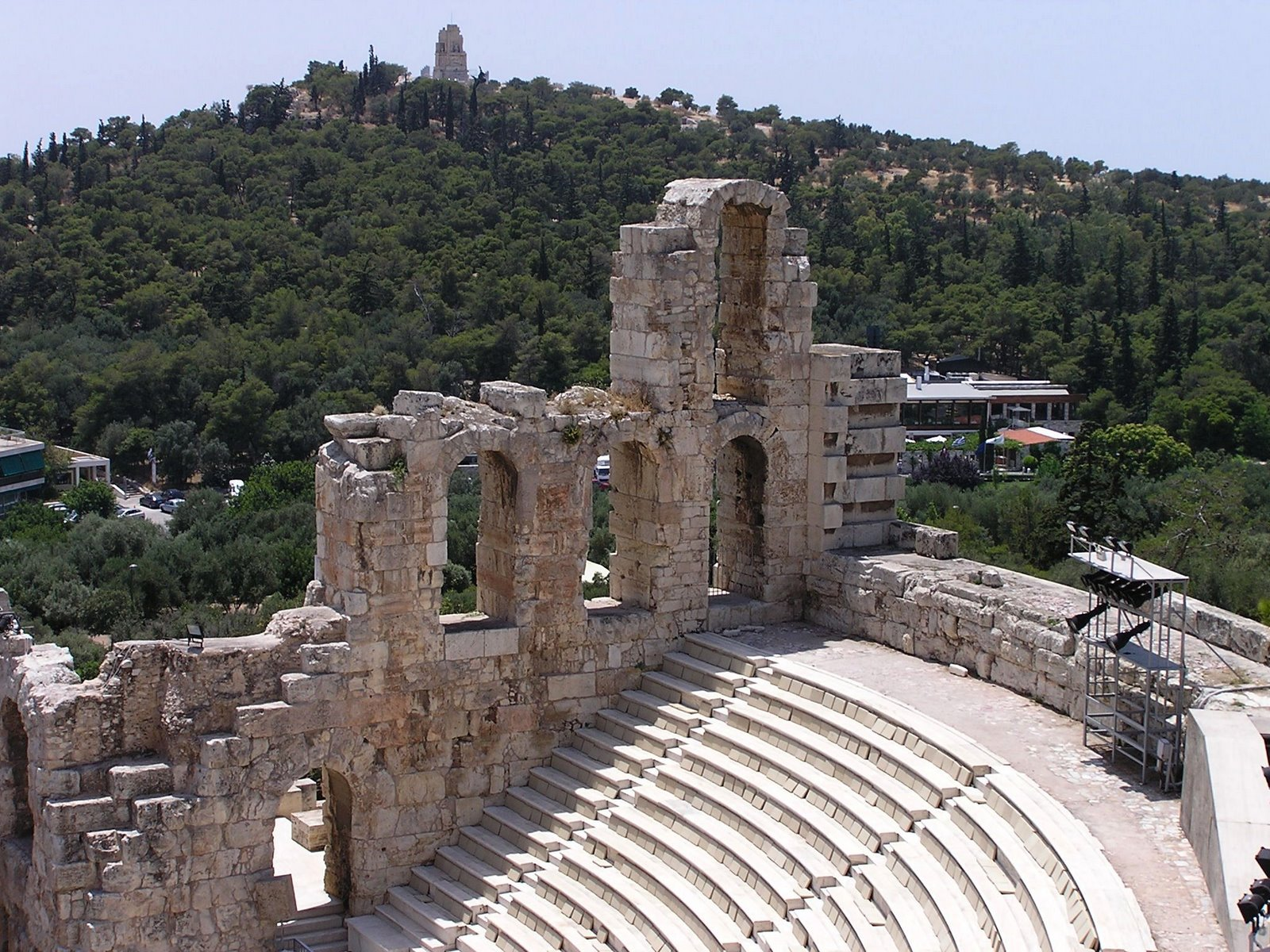 odeum of herodes atticus, acropolis, athens, greece