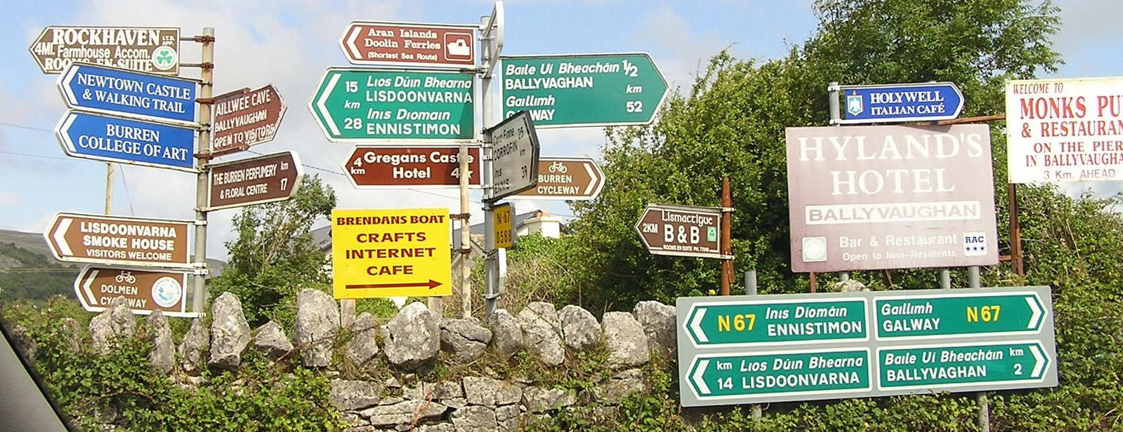 road signs, county clare, ireland