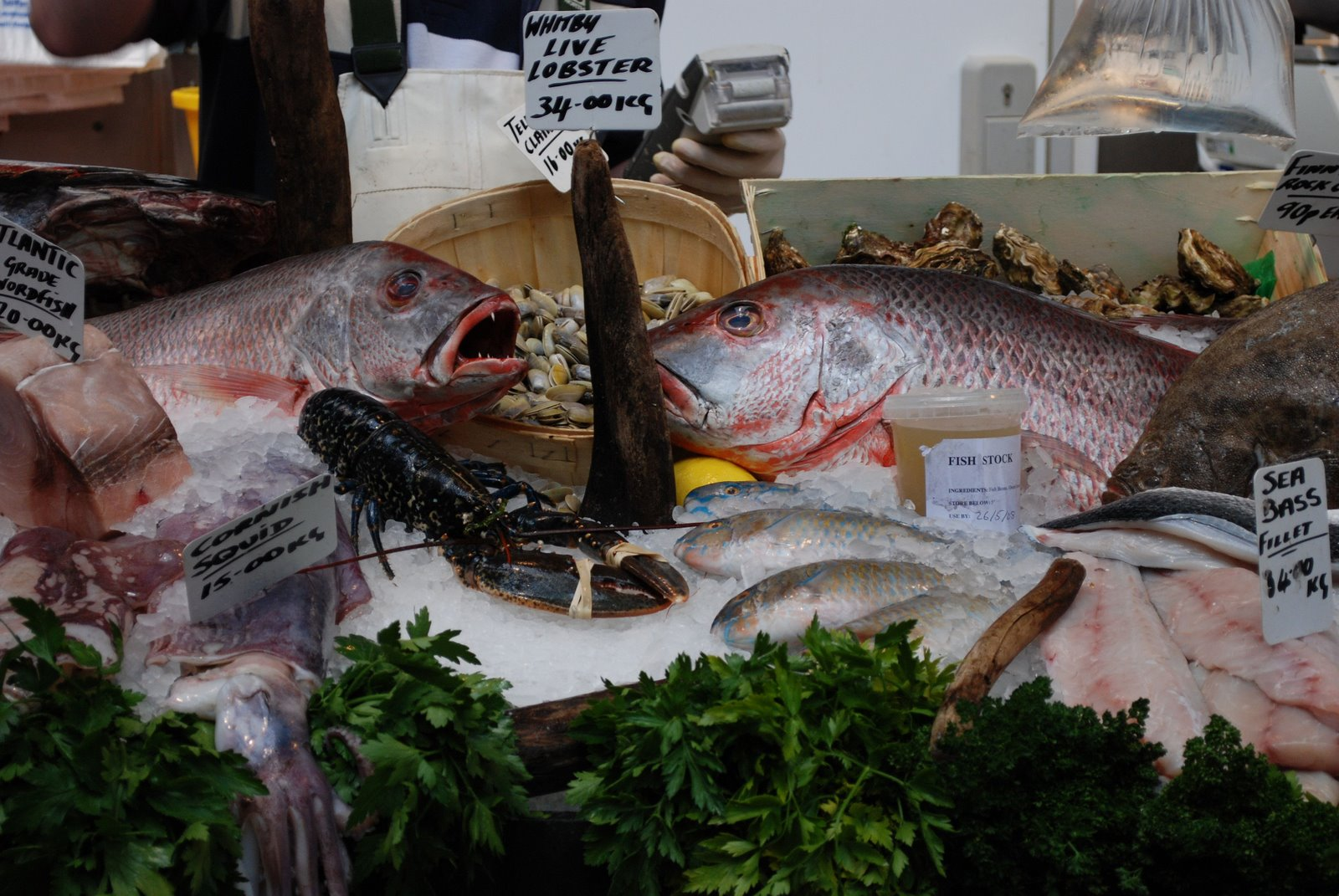 borough market, fish stand
