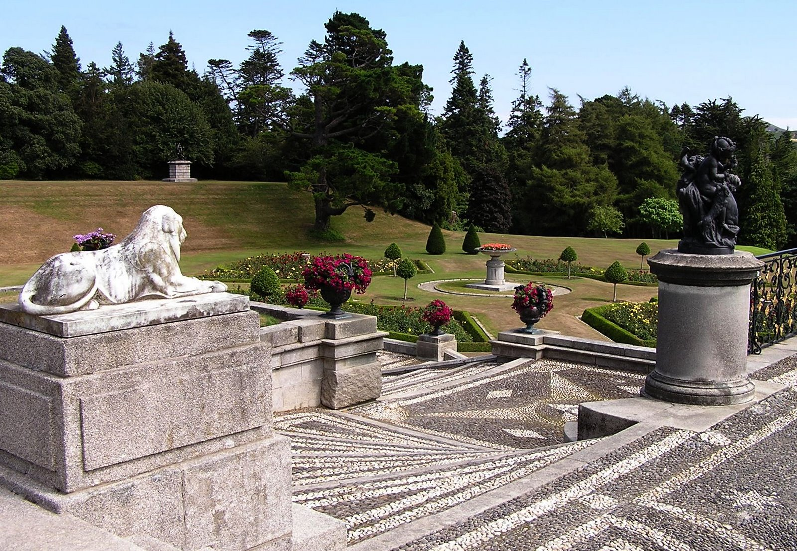 powerscourt gardens, wicklow mountains, ireland