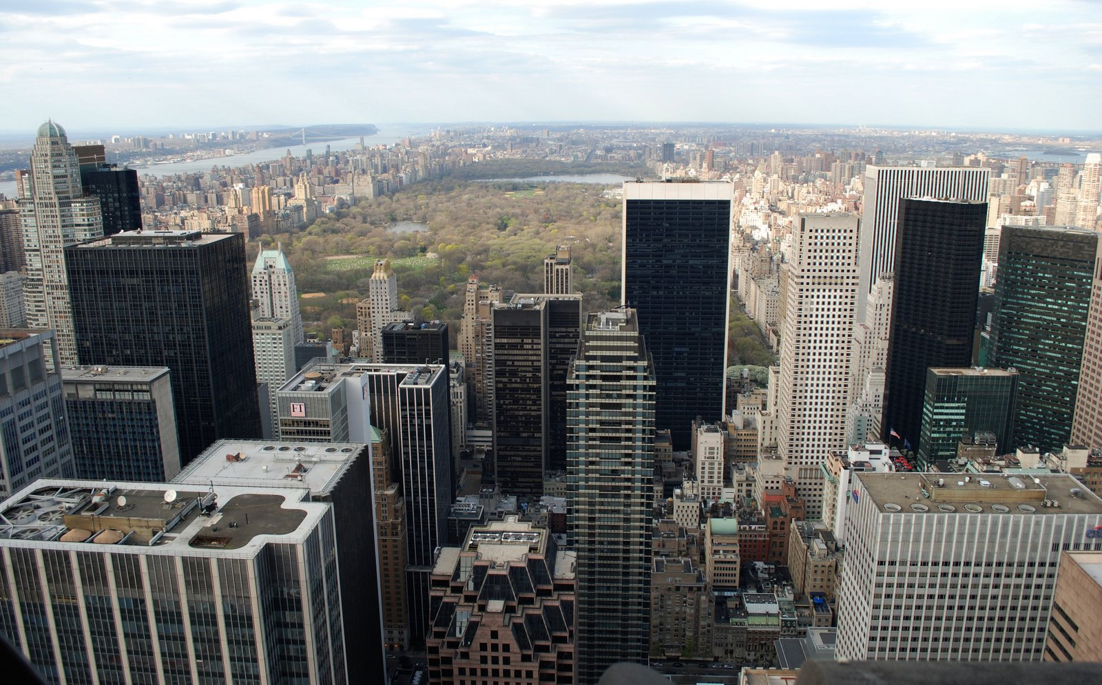 central park, manhattan, view from rockefeller center