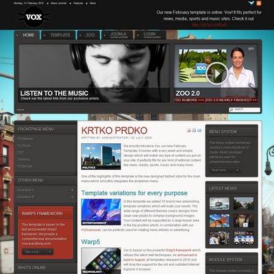 Yootheme vox joomla downloads for Yootheme joomla templates free download