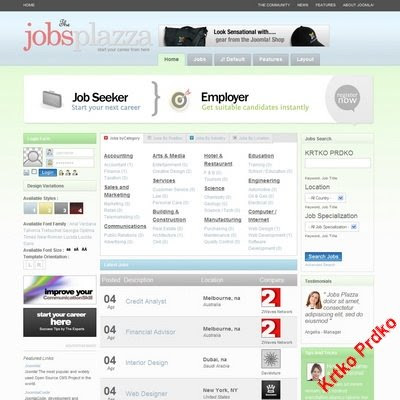 Job Joomla Templates TemplatePlazza Jobs Plazza | Joomla Downloads