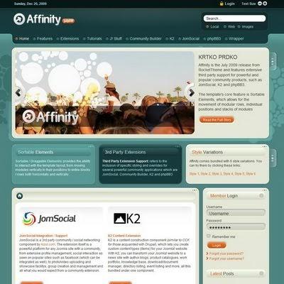 RocketTheme Affinity 1 Joomla Downloads